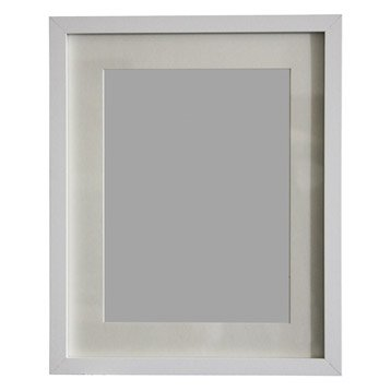 Cadre Lario, 24 x 30 cm, blanc-blanc n°0
