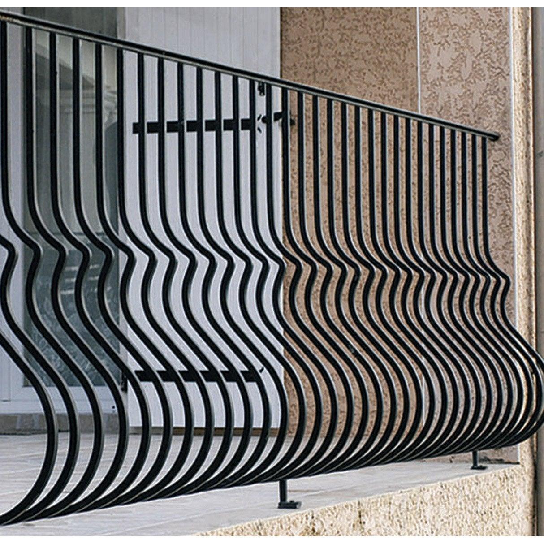 garde corps pour balcon en fer pr peint lombarde haut 97cm x larg 146cm leroy merlin. Black Bedroom Furniture Sets. Home Design Ideas