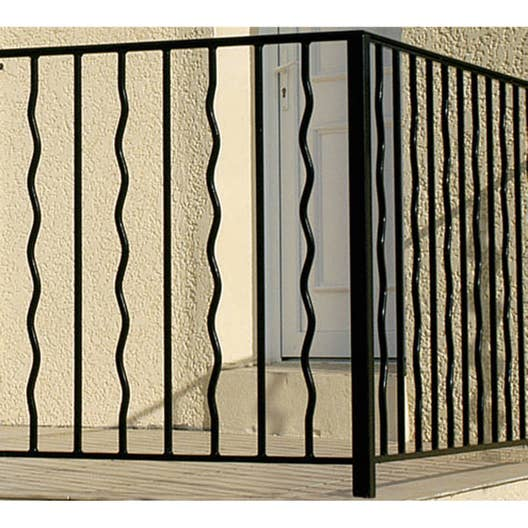 garde corps pour balcon en fer pr peint mistral haut 97cm x larg 146cm leroy merlin. Black Bedroom Furniture Sets. Home Design Ideas