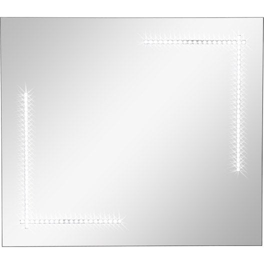miroir lumineux r tro clair par led clara sensea x cm leroy merlin. Black Bedroom Furniture Sets. Home Design Ideas