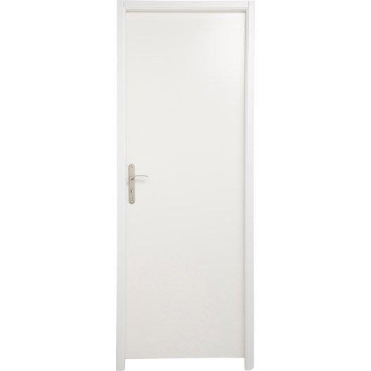 Bloc porte m dium mdf borgo blanc blanc n 0 x l for Porte 83 204