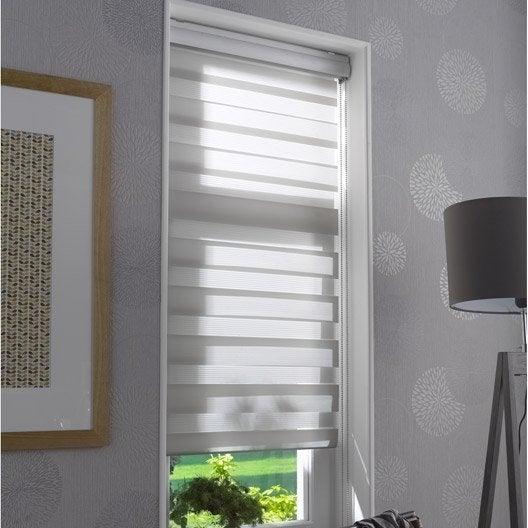 store enrouleur jour nuit coffre alu gris clair 120x210 cm leroy merlin. Black Bedroom Furniture Sets. Home Design Ideas
