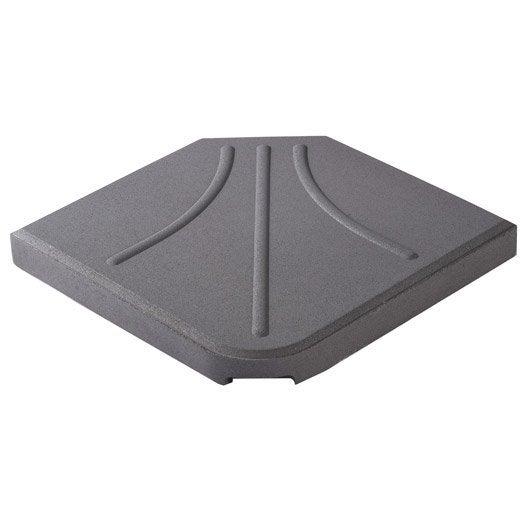 dalle pour parasol excentr mars gris 25 kg leroy merlin. Black Bedroom Furniture Sets. Home Design Ideas