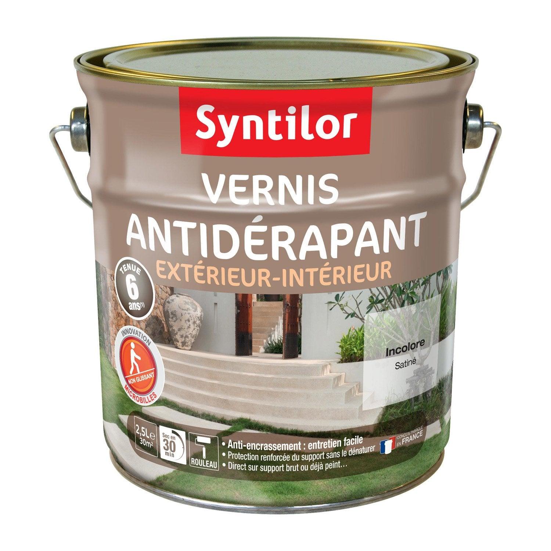exceptionnel Vernis antidérapant sol extérieur / intérieur SYNTILOR, incolore, 2.5 l