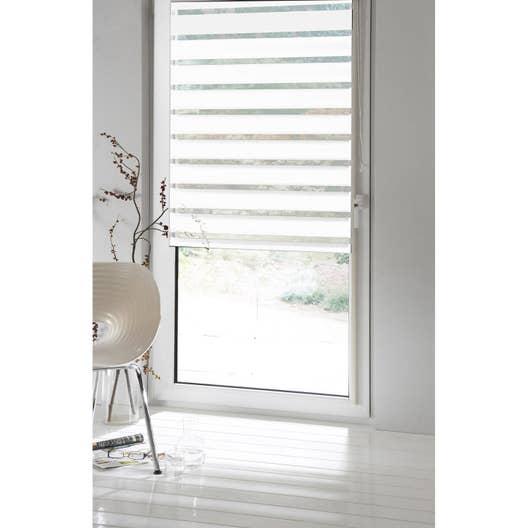 Store enrouleur jour / nuit INSPIRE, blanc blanc n°0, 56 x 250 cm ...