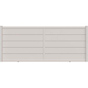 Portail coulissant aluminium Hezo blanc NATERIAL, l.400 cm x H.170 cm