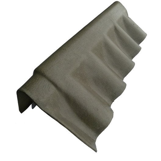 rive pour fibrociment gris, l.0.92 m | leroy merlin