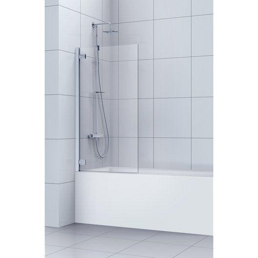 Pare baignoire salle de bains au meilleur prix leroy for Prix pose baignoire leroy merlin