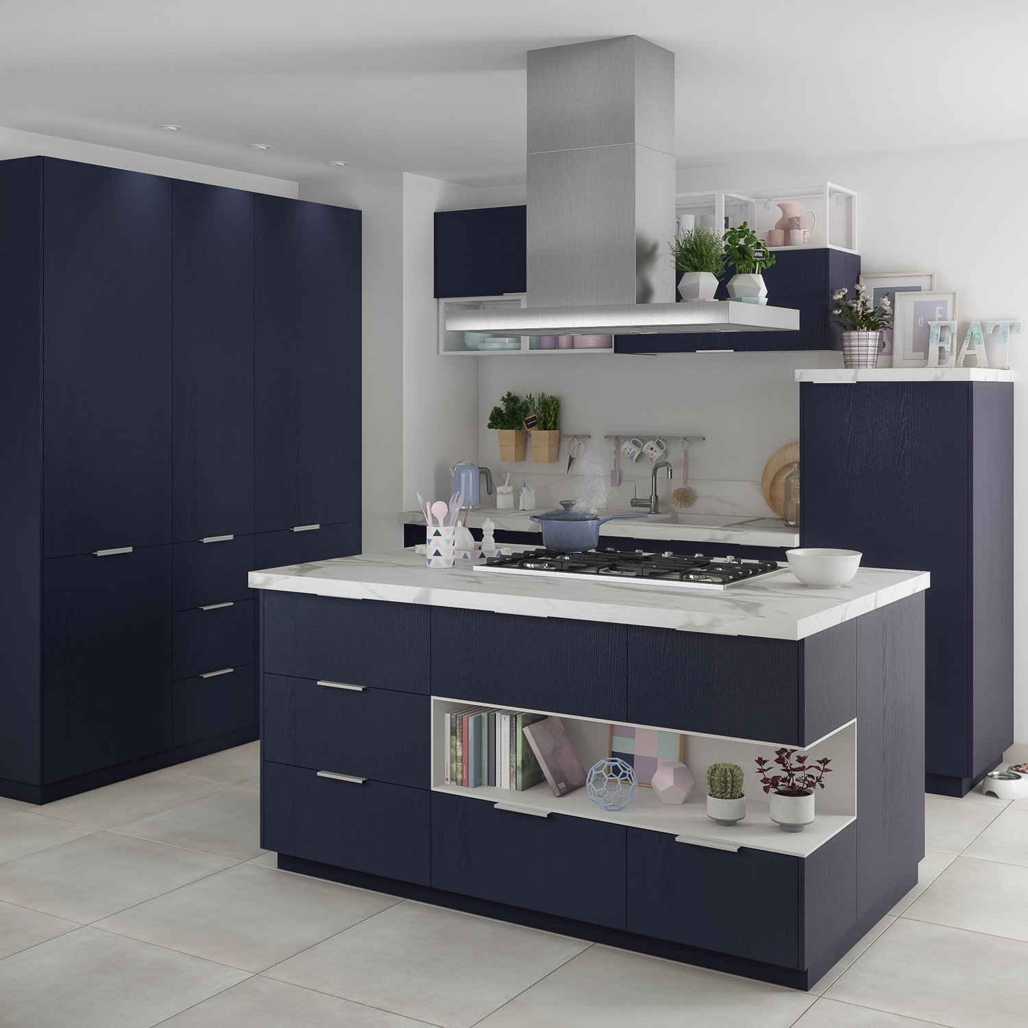 ilot central et accessoires de cuisine assortis leroy merlin. Black Bedroom Furniture Sets. Home Design Ideas