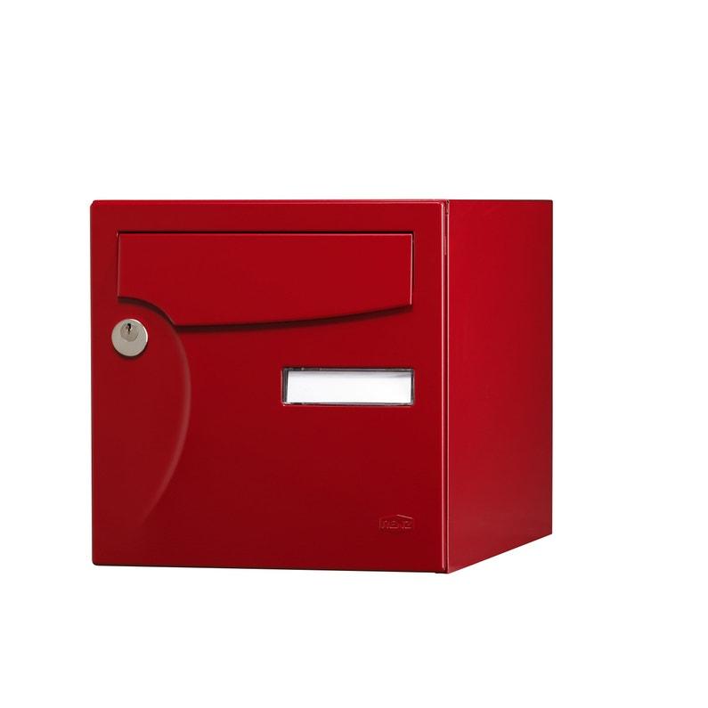 Boîte Aux Lettres Normalisée La Poste 1 Porte Ext Renz Acier Rouge Basque