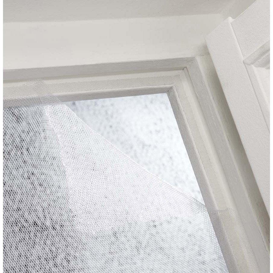 Polyester Moustiquaire Auto-Agrippante Fen/être Noir 110 x 130 cm moustiquaire fen/être anti insect mouches Auto-Adh/ésif Rideaux Anti Moustique