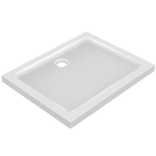 receveur de douche rectangulaire x cm gr s blanc idealsmart leroy merlin. Black Bedroom Furniture Sets. Home Design Ideas