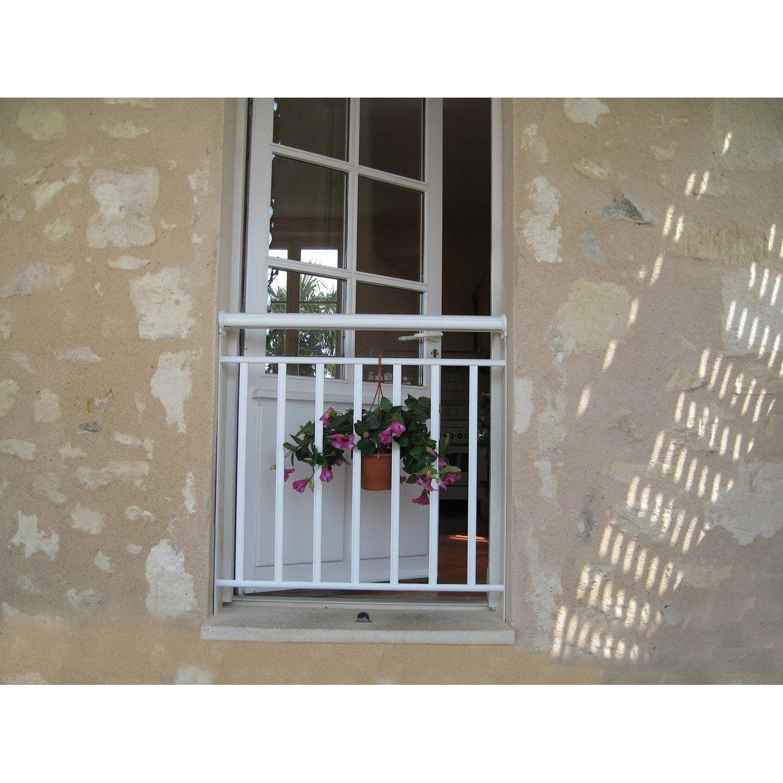garde corps pour balconnet en aluminium laqu floride haut 93cm x larg 80cm leroy merlin. Black Bedroom Furniture Sets. Home Design Ideas