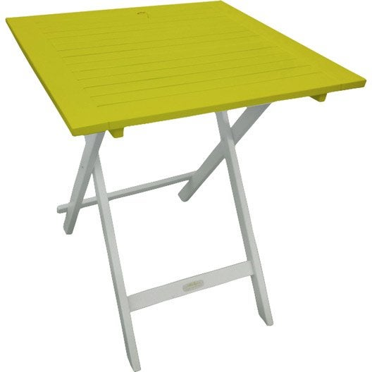Table de jardin city green burano carr e vert 2 personnes - Table de jardin 2 personnes ...