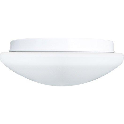 Hublot d tection ext rieur e27 60 w blanc leroy merlin for Plafonnier exterieur terrasse