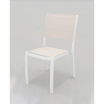 Chaise de jardin en aluminium Tarragona taupe
