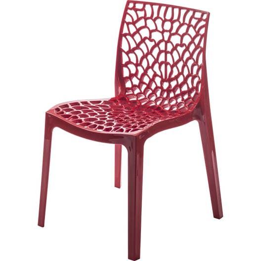 Chaise de jardin en résine Grafik rouge | Leroy Merlin
