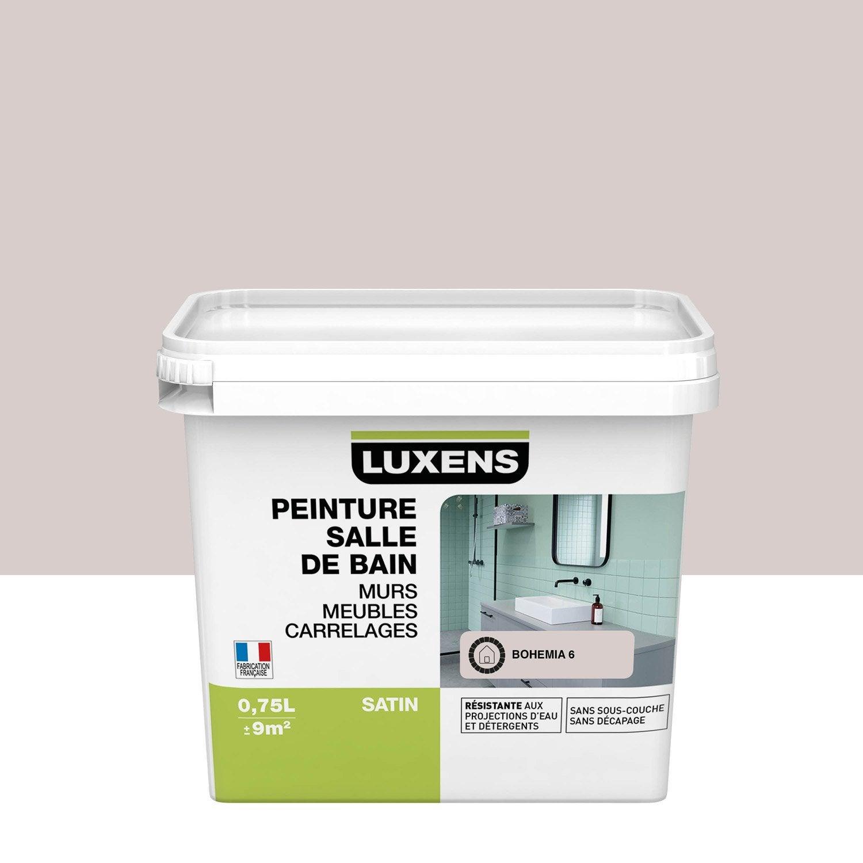 Peinture salle de bain murs, meubles, carrelages LUXENS, bohemia 6, 0.75 l, satin