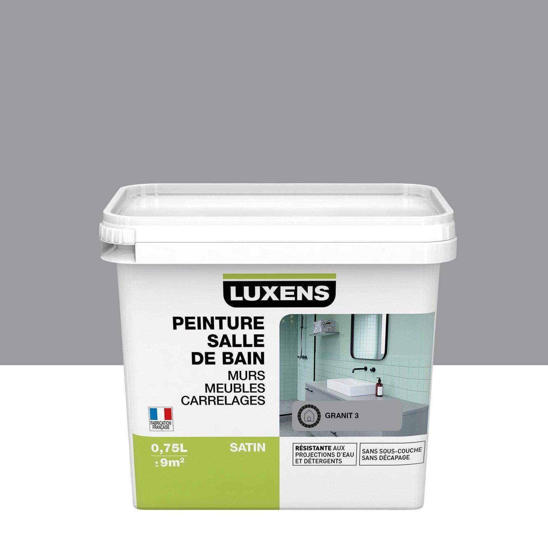 Peinture salle de bain murs, meubles, carrelages LUXENS, granit 3, 0.75 l, satin