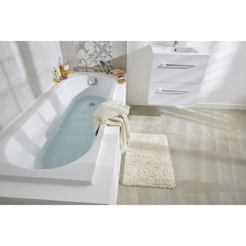 Baignoire Rectangulaire L 170x L 70 Cm Blanc Sensea Access Confort