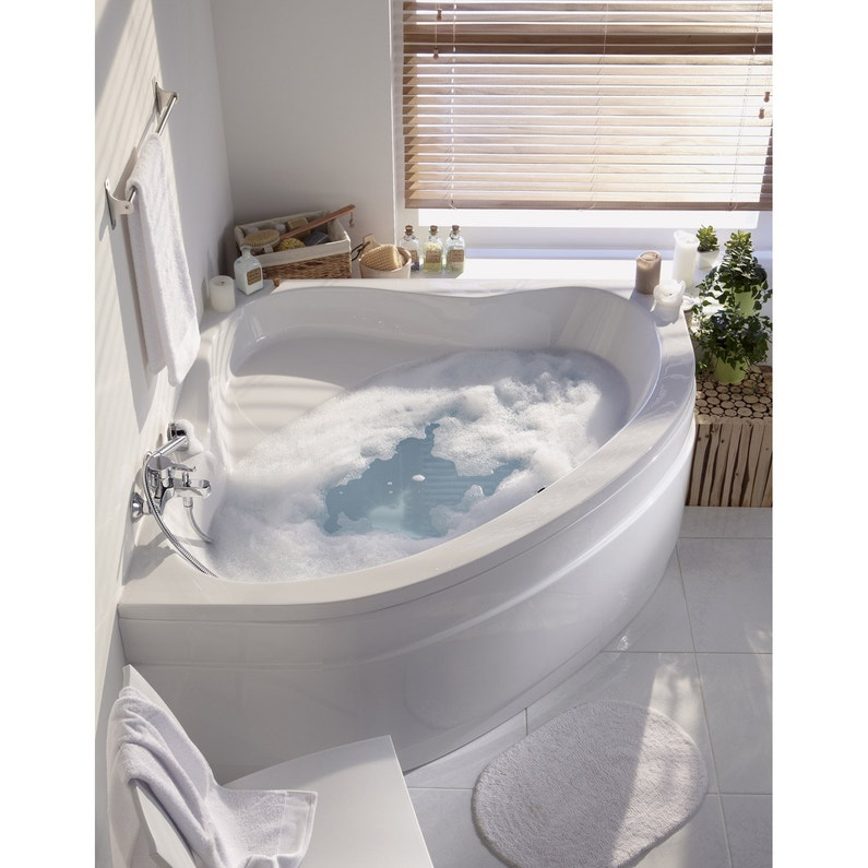 Baignoire Dangle L135x L135 Cm Blanc Nerea Leroy Merlin