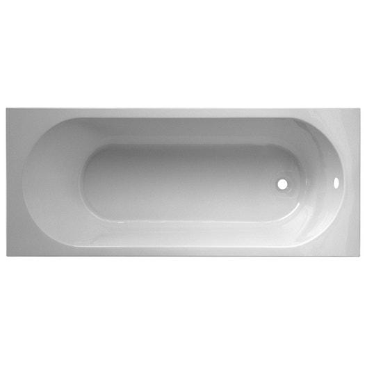 baignoire rectangulaire cm blanc nerea leroy. Black Bedroom Furniture Sets. Home Design Ideas