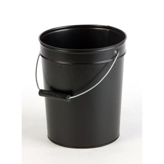 Seau cendres noir x atelier dixneuf - Seau a cendre ...