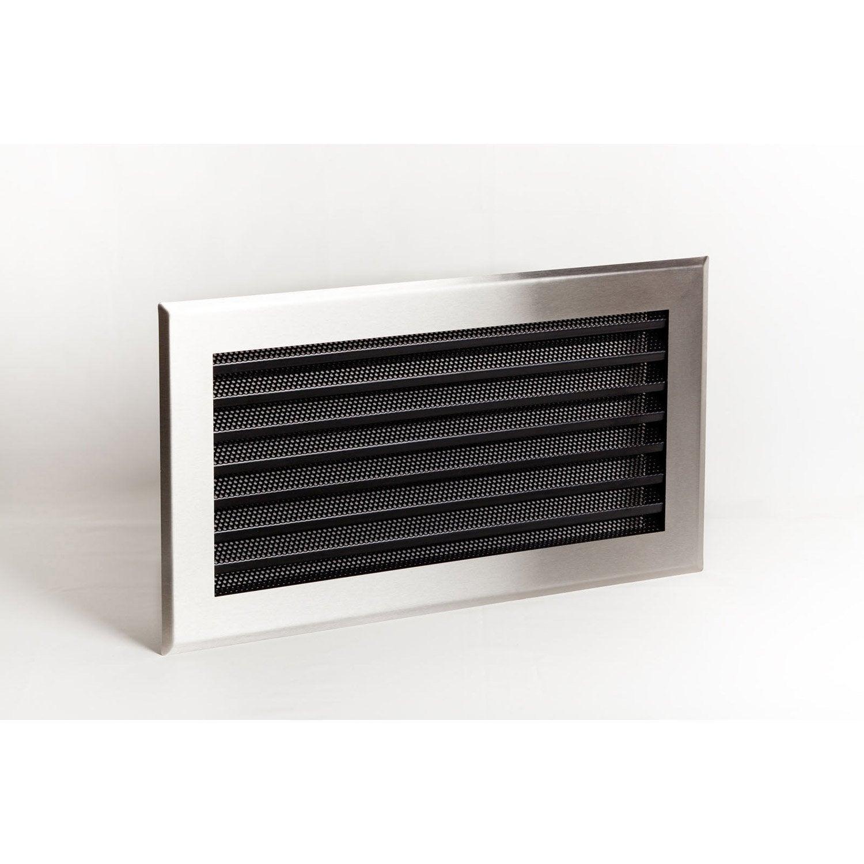 Grille de ventilation inox et acier equation lamelles inox - Grille protection cheminee ...