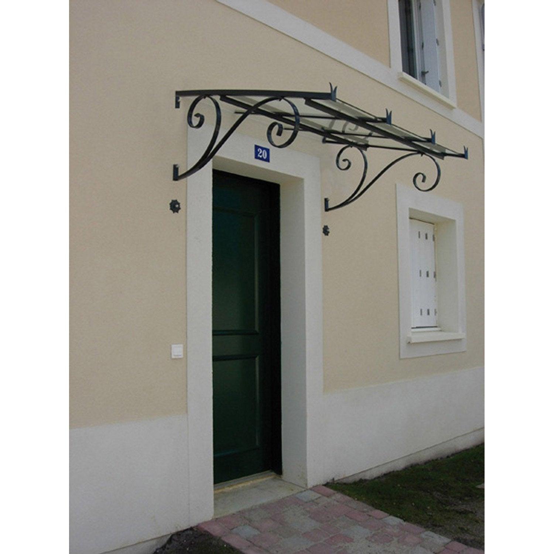 Marquise en fer galvanis s vign haut 53cm x larg cm - Marquise de porte d entree ...