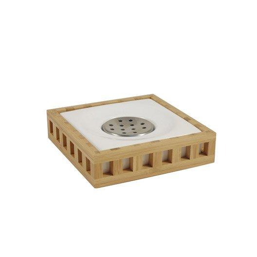 Brosse WC Céramique Fudji Naturel Leroy Merlin - Porte savon leroy merlin