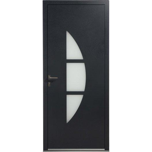 Porte d 39 entr e aluminium omaha excellence poussant gauche - Porte d entree alu leroy merlin ...