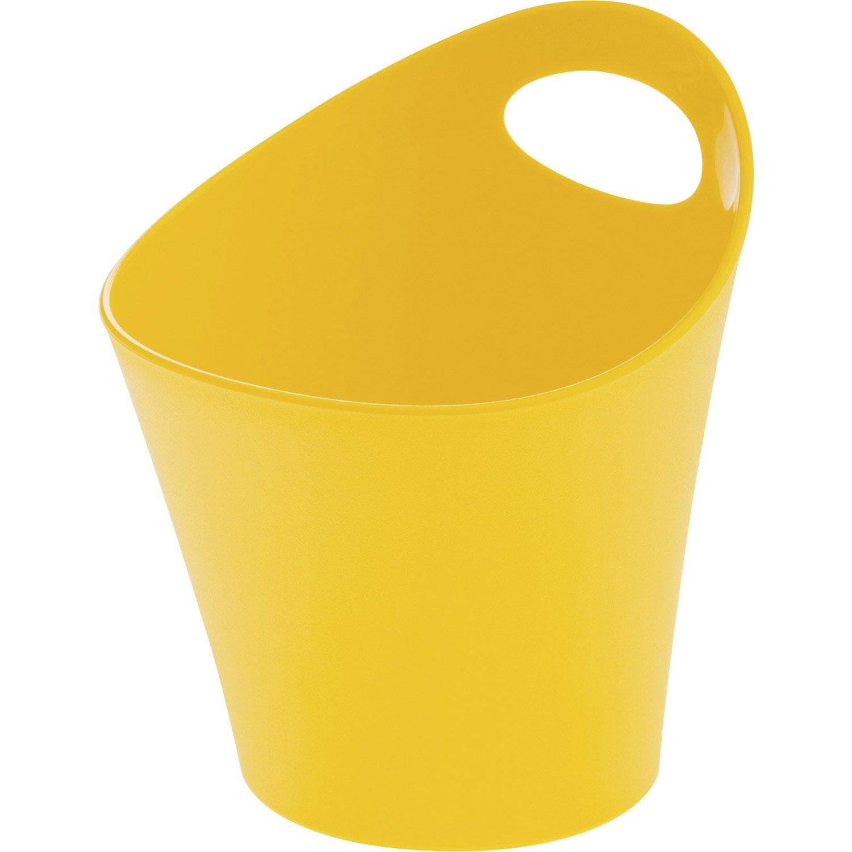 Panier en plastique jaune serin 3, Potichelli