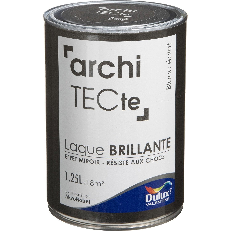 Nice Peinture Blanc éclat Brillant DULUX VALENTINE Architecte 1.25 L