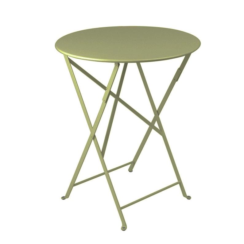 Table de jardin de repas FERMOB Bistro ronde tilleul 2 personnes