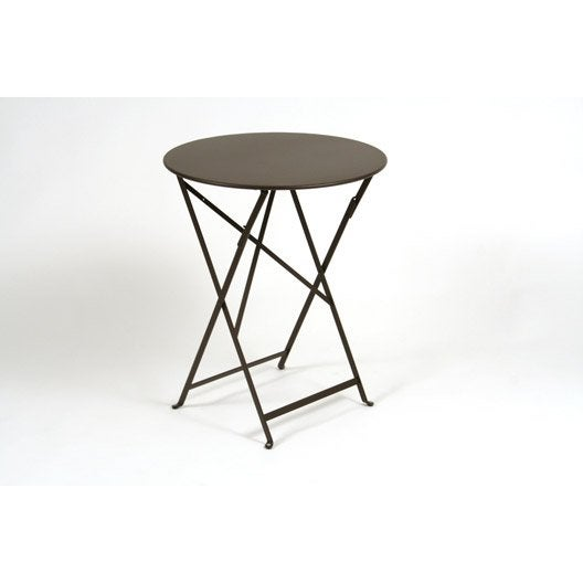 table de jardin fermob bistro ronde rouille 2 personnes leroy merlin. Black Bedroom Furniture Sets. Home Design Ideas