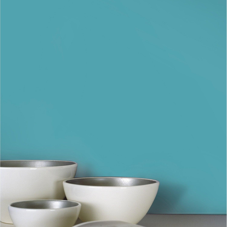 Papier peint intissé lisse et mat bleu Atoll n°4 INSPIRE