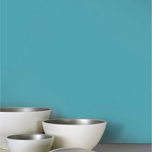 Papier Peint Vinyl Special Salle De Bain ~ papier peint intiss lisse mat bleu leroy merlin