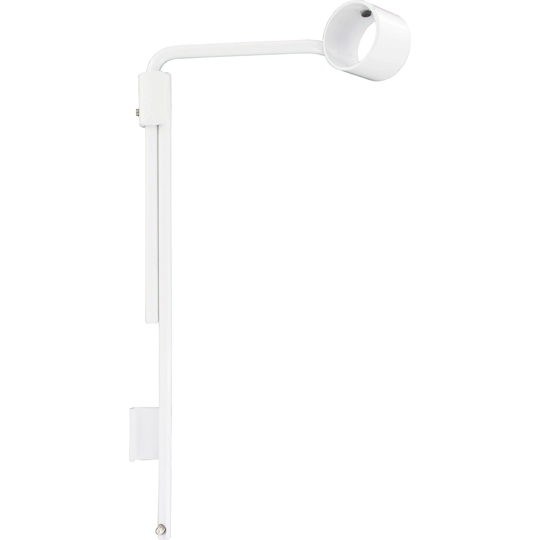 lot de 2 supports sans per age tringle rideau chic 28 mm blanc brillant ib leroy merlin. Black Bedroom Furniture Sets. Home Design Ideas