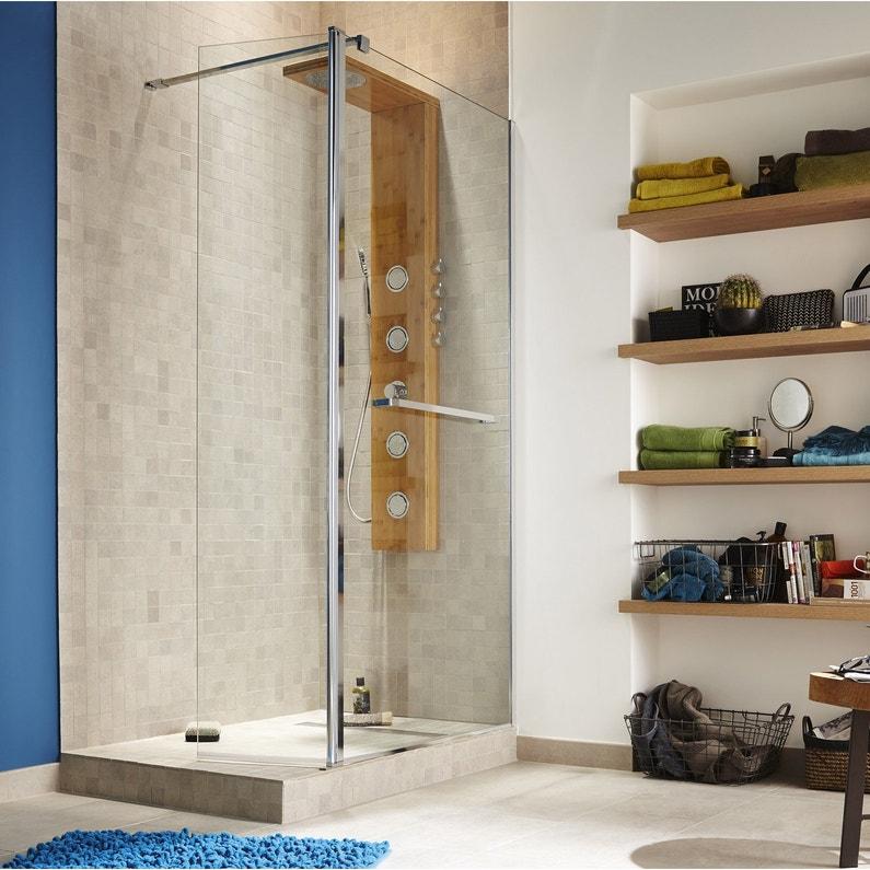 colonne de douche hydromassante avec robinetterie aspect bois holoma leroy merlin. Black Bedroom Furniture Sets. Home Design Ideas