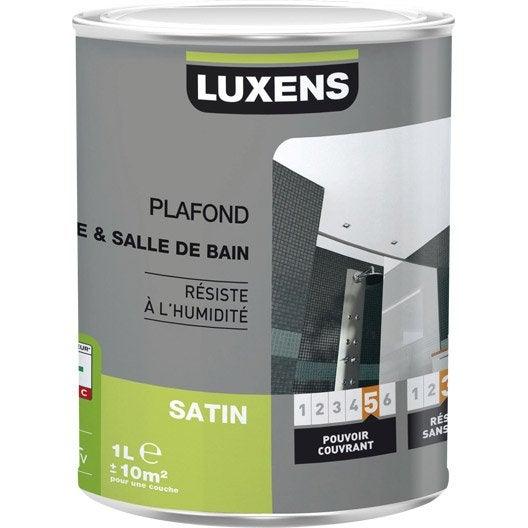 Peinture blanche plafond Plafond cuisine et bains LUXENS, satin 1 l