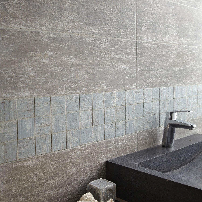 mosaïque sol et mur cuba vert 6 x 6 cm | leroy merlin