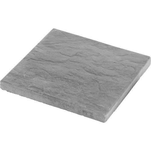 dalle b ton nuancea gris ardois x cm x mm leroy merlin. Black Bedroom Furniture Sets. Home Design Ideas