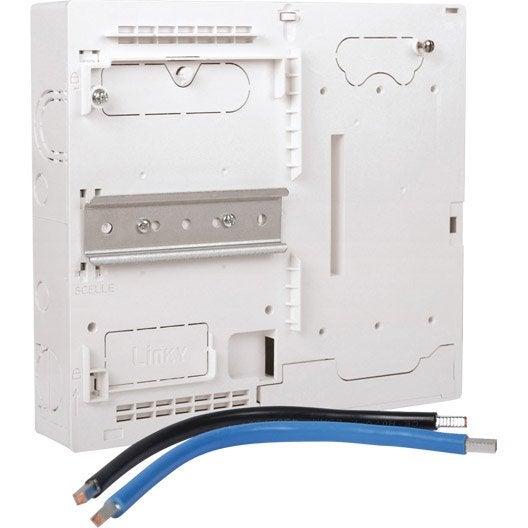 Platine disjoncteur compteur edf compatible linky lexman 1 rang e 13 modules leroy merlin - Habillage compteur electrique ...