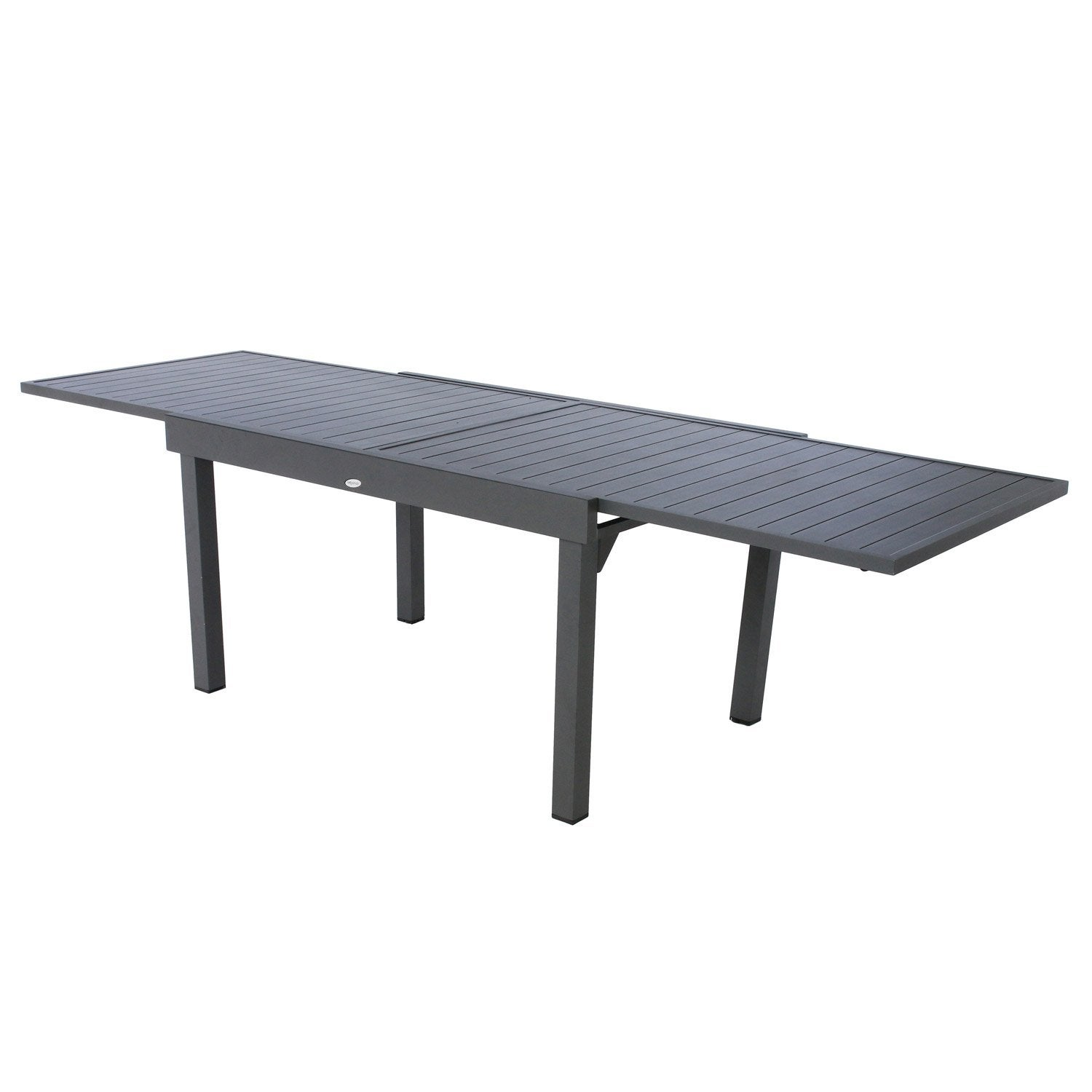 table de jardin hesperide piazza rectangulaire gris 10 personnes leroy merlin. Black Bedroom Furniture Sets. Home Design Ideas