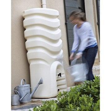Récupérateur d'eau et collecteur aérien EDA rectangulaire beige , 350 l