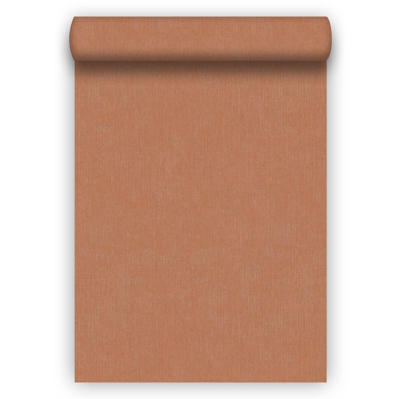 Papier Peint Vinyle Ligne Lina Rouge Orange Leroy Merlin