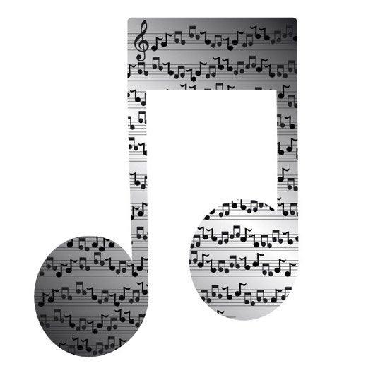 Miroir en plexiglass note musique 10 cm x 10 cm leroy merlin - Musique pub leroy merlin ...