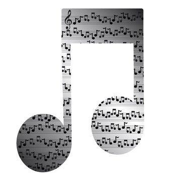 Miroir en plexiglass Note musique 10 cm x 10 cm