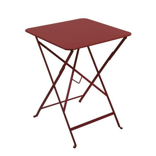 table de jardin fermob bistro carr e piment 2 personnes. Black Bedroom Furniture Sets. Home Design Ideas