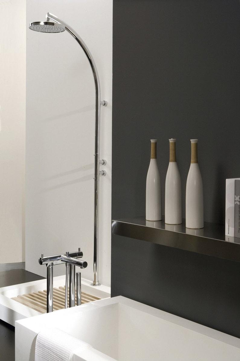 Douche et baignoire dans une salle de bains design leroy for Douche et baignoire dans salle de bain